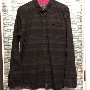 Amplify Black buttons down dress shirt